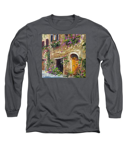 Long Sleeve T-Shirt featuring the painting Welcome Home by Jennifer Beaudet
