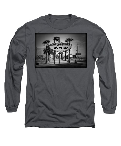 Welcome To Las Vegas Series Holga Black And White Long Sleeve T-Shirt