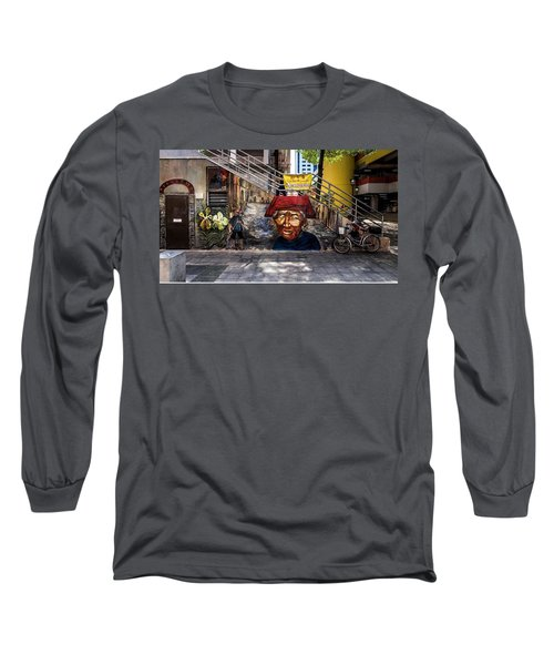 Long Sleeve T-Shirt featuring the painting Welcome To Our World  by Belinda Low