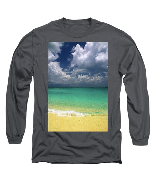 Welcome To Paradise Long Sleeve T-Shirt by Marie Hicks