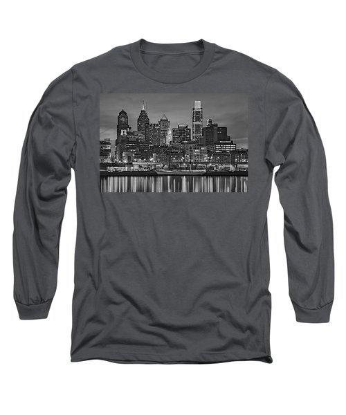 Welcome To Penn's Landing Bw Long Sleeve T-Shirt