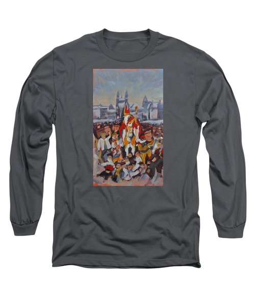 Welcoming Saint Nicolas In Maastricht Long Sleeve T-Shirt by Nop Briex