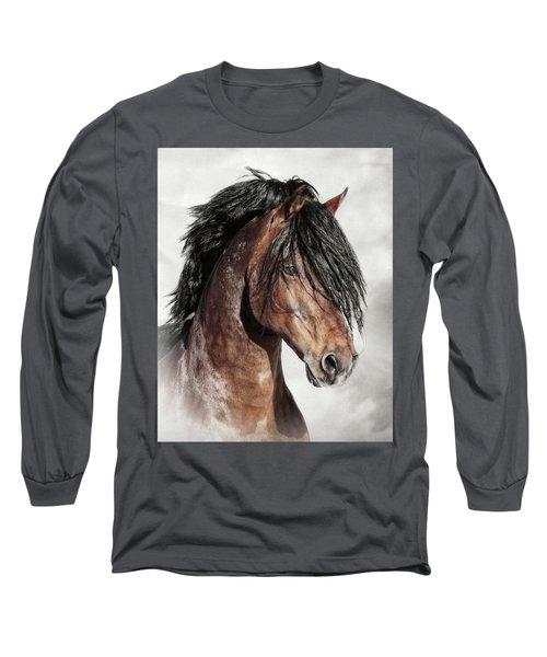 Welsh Cob Portrait Long Sleeve T-Shirt