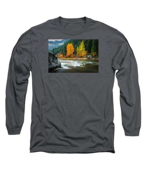 Long Sleeve T-Shirt featuring the photograph Wenatchee Riverside by Dan Mihai