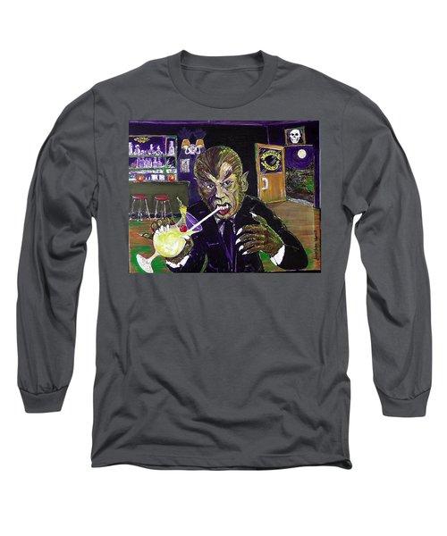 Werewolf Drinking A Pina Colada At Trader Vic's Long Sleeve T-Shirt