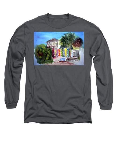 Long Sleeve T-Shirt featuring the painting West End Market by Donna Walsh