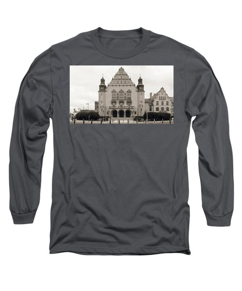 West Facade Of Adam Mickiewicz University Poznan Poland Long Sleeve T-Shirt
