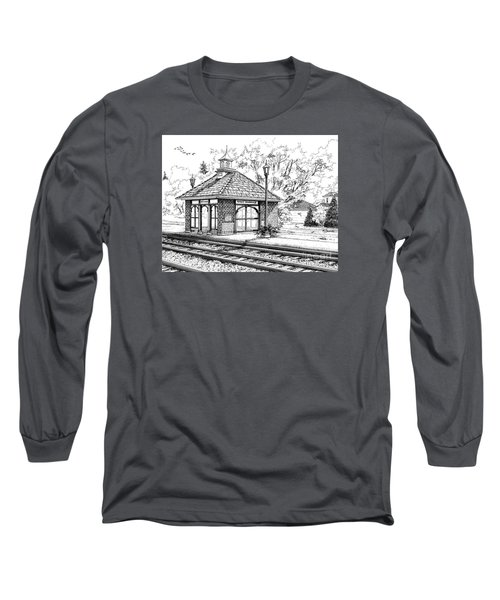 West Hinsdale Train Station Long Sleeve T-Shirt