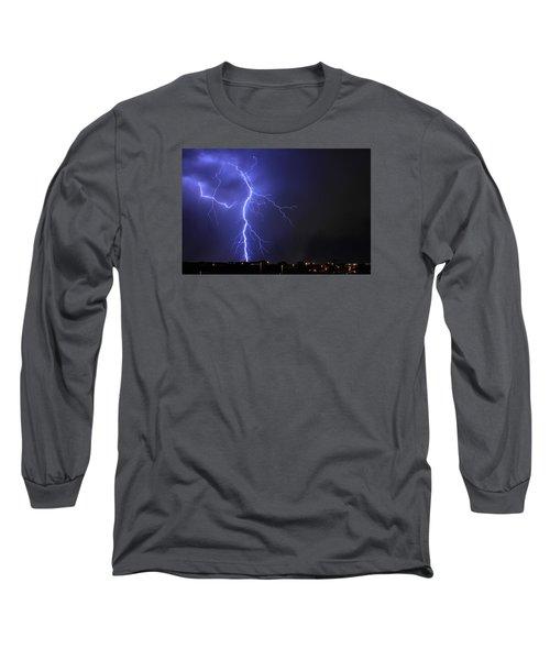 West Jordan Lightning 2 Long Sleeve T-Shirt by Paul Marto