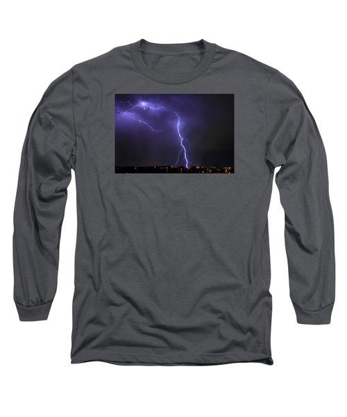 West Jordan Lightning 3 Long Sleeve T-Shirt by Paul Marto