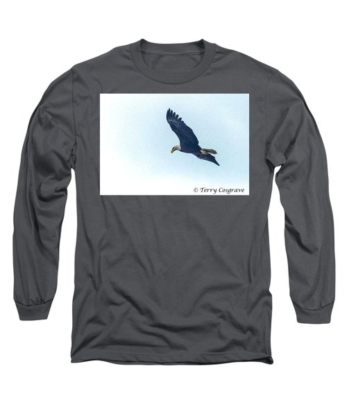 West Point American Eagle. Long Sleeve T-Shirt by Terry Cosgrave