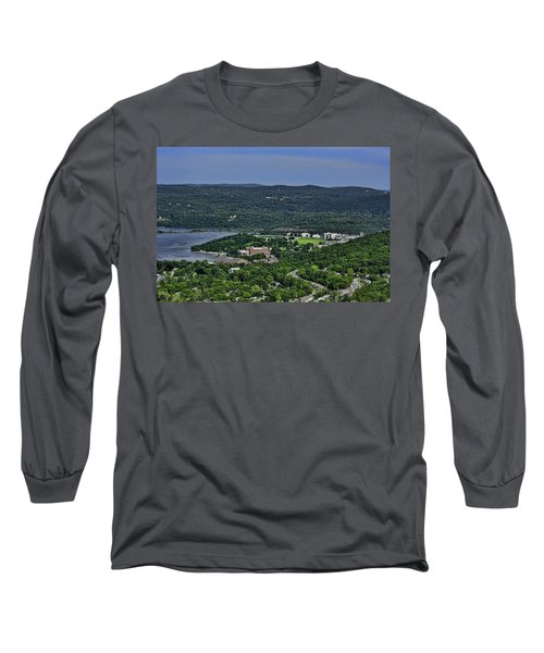 West Point From Storm King Overlook Long Sleeve T-Shirt by Dan McManus