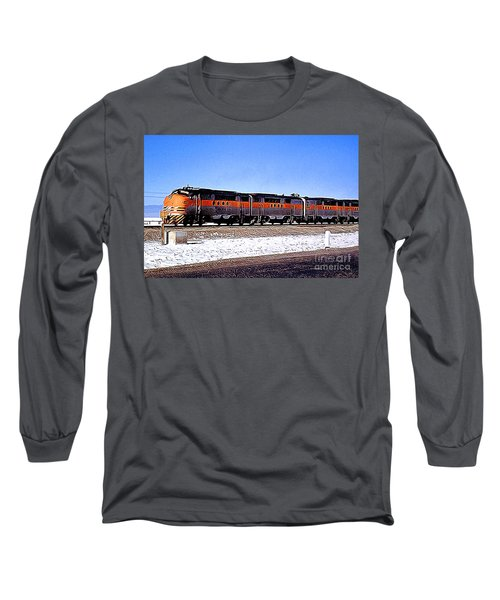 Western Pacific Diesel Locomotive Trainset Long Sleeve T-Shirt