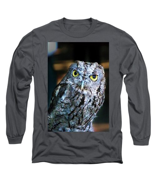 Long Sleeve T-Shirt featuring the photograph Western Screech Owl by Anthony Jones