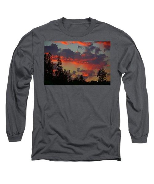 Western Sky Fire Long Sleeve T-Shirt