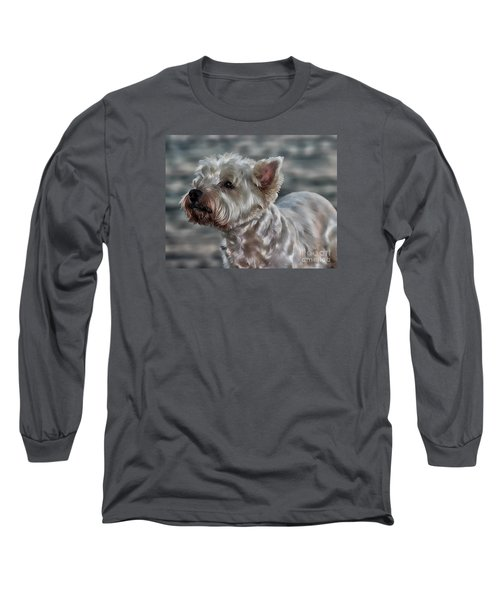 Westie Love Long Sleeve T-Shirt by Clare Bevan