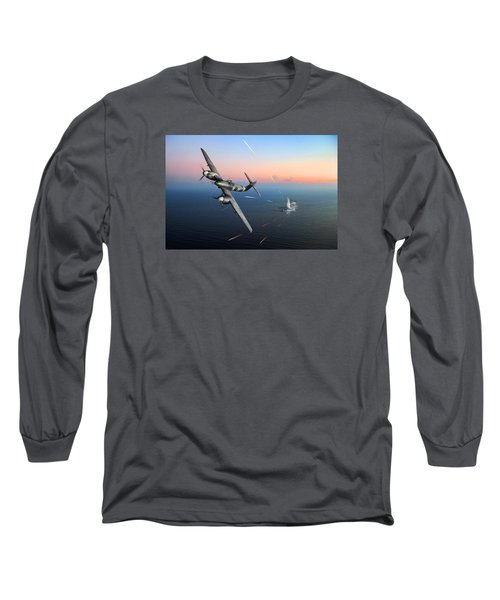 Long Sleeve T-Shirt featuring the photograph Westland Whirlwind Attacking E-boats by Gary Eason