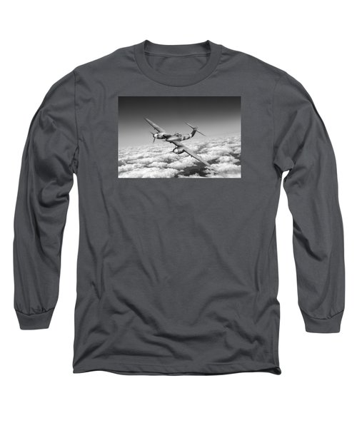 Long Sleeve T-Shirt featuring the photograph Westland Whirlwind Portrait Black And White Version by Gary Eason