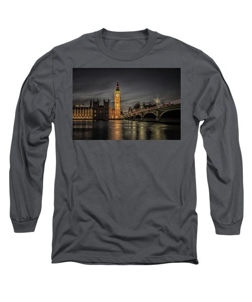Westminster At Night Long Sleeve T-Shirt