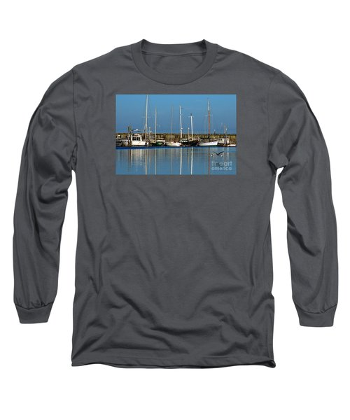 Westport Fishing Fleet I Long Sleeve T-Shirt by Chuck Flewelling