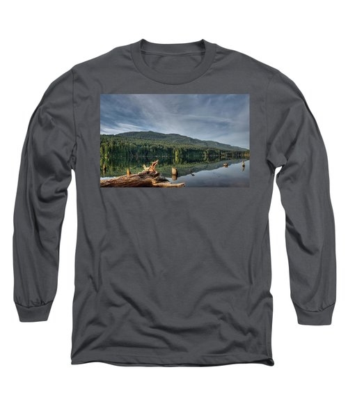 Long Sleeve T-Shirt featuring the photograph Westwood Lake by Randy Hall