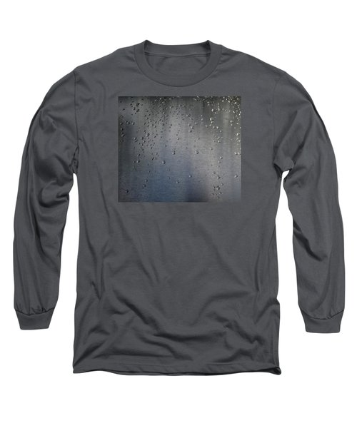 Long Sleeve T-Shirt featuring the photograph Wet Stainless Steel by Lyle Crump