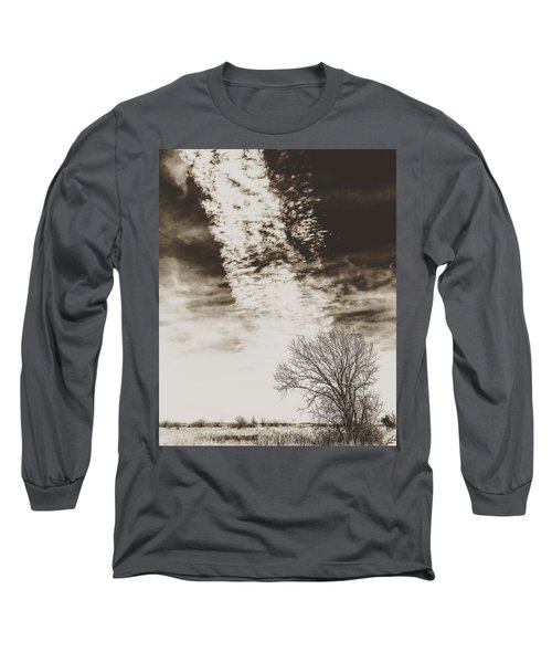 Wetlands Meet Chemtrails Long Sleeve T-Shirt