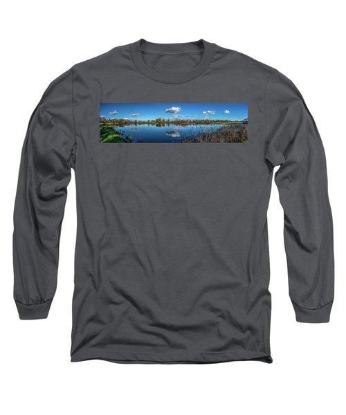 Wetlands Panorama  Long Sleeve T-Shirt