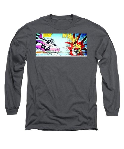 Whaam - Roy Lichtenstein  Long Sleeve T-Shirt