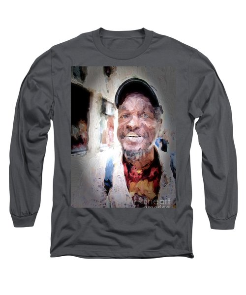 Long Sleeve T-Shirt featuring the photograph The Smiling Man by Jack Torcello