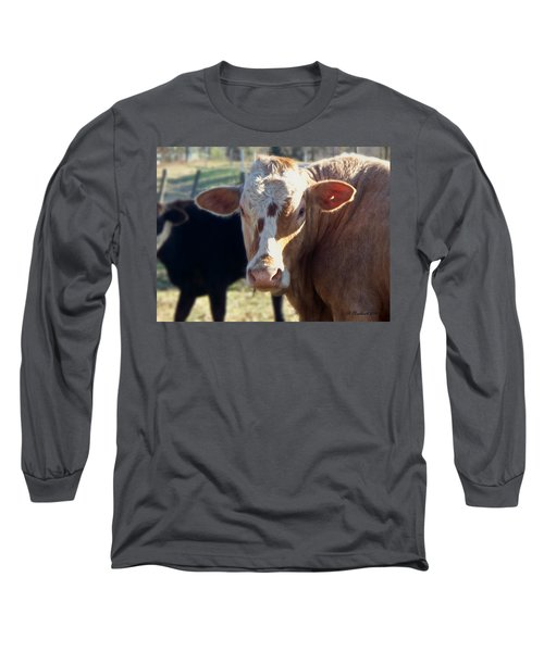Long Sleeve T-Shirt featuring the photograph What You Lookin' At by Betty Northcutt