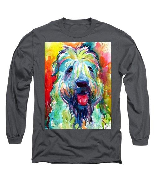 Wheaten Terrier Dog Portrait Long Sleeve T-Shirt by Svetlana Novikova