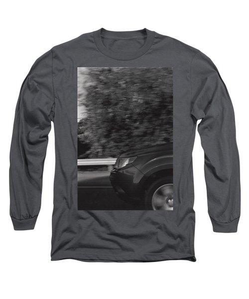 Wheel Blur Photograph Long Sleeve T-Shirt