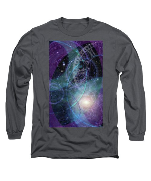 Wheels Within Wheels Long Sleeve T-Shirt by Kenneth Armand Johnson