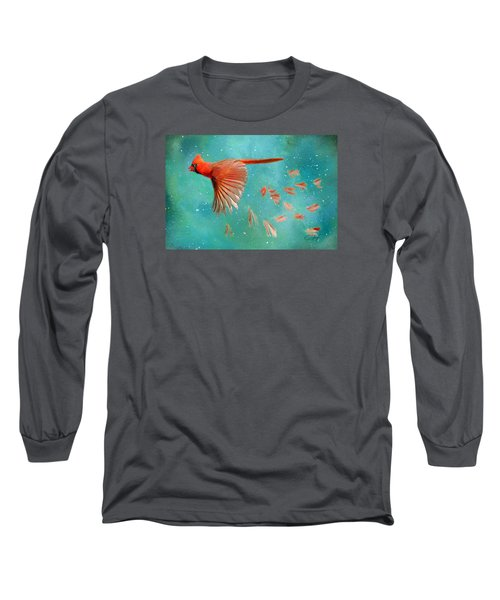 When Feathers Fly II Long Sleeve T-Shirt by Colleen Taylor