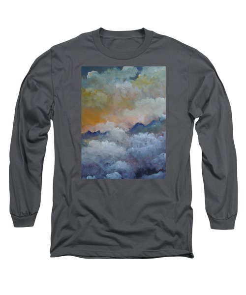 Long Sleeve T-Shirt featuring the painting When I Consider Your Heavens Psalm 8 by Dan Whittemore