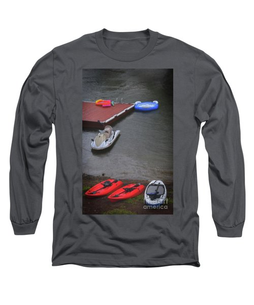 When It Rains At The Lake Long Sleeve T-Shirt