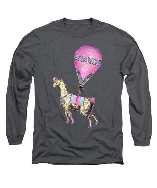 Flying Llama Long Sleeve T-Shirt