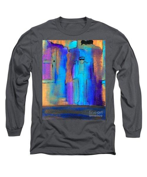 When The Lines Blur Long Sleeve T-Shirt