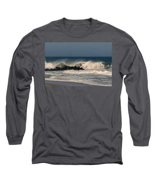 When The Ocean Speaks - Jersey Shore Long Sleeve T-Shirt