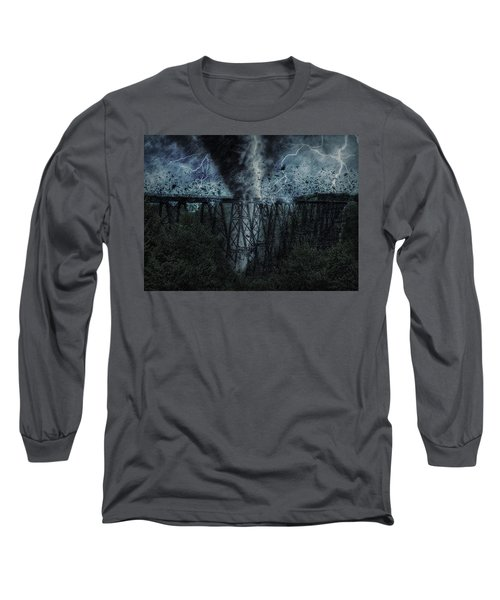 When The Tornado Hit The Bridge Long Sleeve T-Shirt