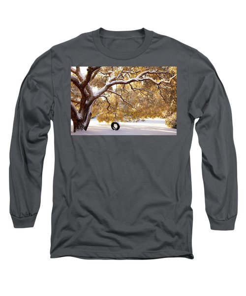 Long Sleeve T-Shirt featuring the photograph When Winter Blooms by Karen Wiles