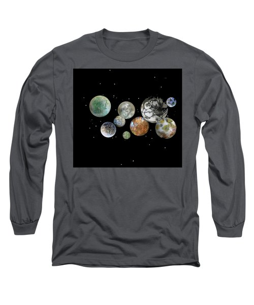 When Worlds Collide Long Sleeve T-Shirt by Tony Murray