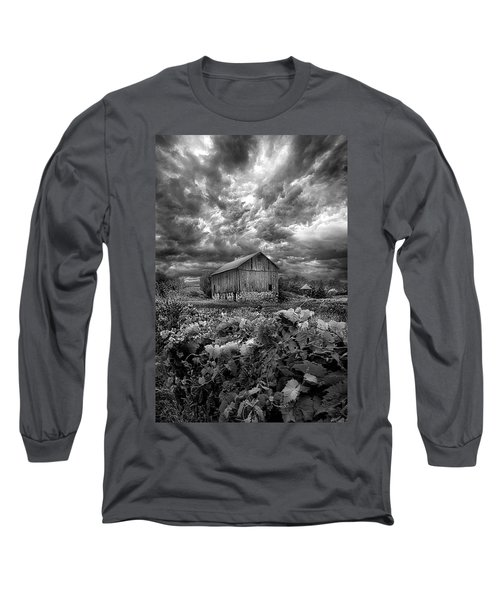 Long Sleeve T-Shirt featuring the photograph Where Ghosts Of Old Dwell And Hold by Phil Koch