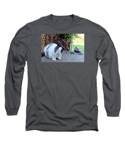 Long Sleeve T-Shirt featuring the photograph Where Is My Hat? by Vicky Tarcau