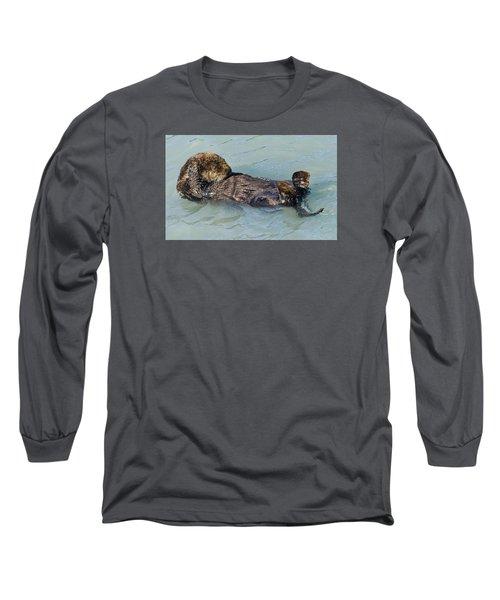 Wheres My Navel Long Sleeve T-Shirt by Harold Piskiel