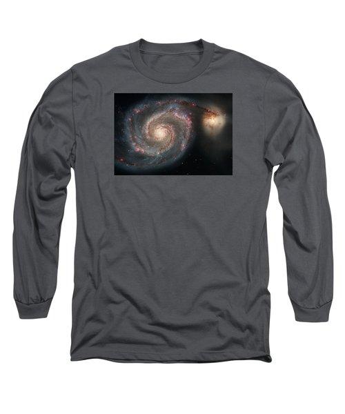 Whirlpool Galaxy And Companion  Long Sleeve T-Shirt