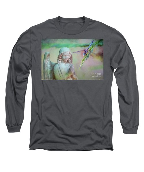 Whisper Of Angel Wings Long Sleeve T-Shirt by Bonnie Barry