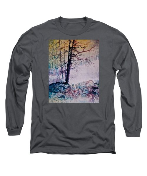 Long Sleeve T-Shirt featuring the painting Whispers In The Fog by Carolyn Rosenberger