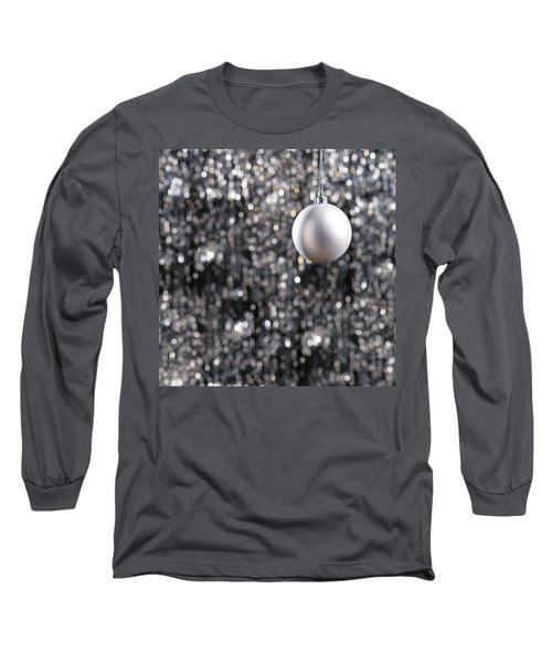 Long Sleeve T-Shirt featuring the photograph White Christmas Bauble  by Ulrich Schade